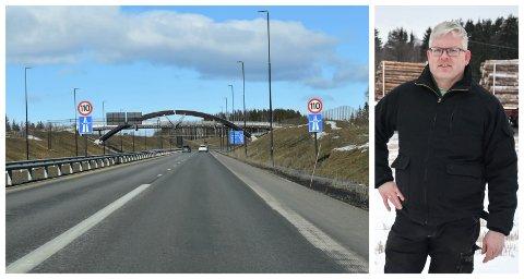 KRITISK: Bonde Einar Myki jubler ikke over utsiktene til ny firefelts motorveg fra Løten til Hamar.