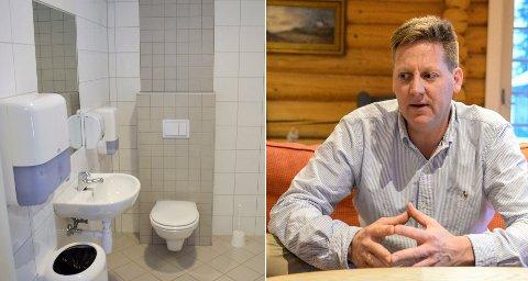 """SAMME INNHOLD: Pelle Gangeskar påpeker at """"råstoffet"""" som leveres til Monserud er det samme, enten husstander har tett tank eller kommunal kloakk. (Toalettet til venstre er brukt som et illustrasjonsfoto)."""