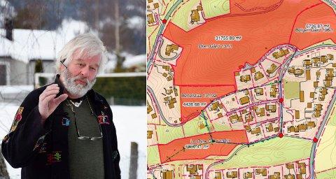 FELLES LØSNING: Otto Vaule Olsen fastholder at han har jobbet i mange år for en felles vannløsning. Han synes det er urimelig at fire grunneiere skal få utnytte potensialet alene.
