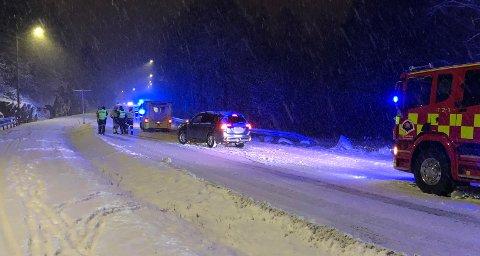 GLATT: Ulykken har skjedd i bakken opp mot Gjelleråsen fra Skedsmo. FOTO: VIDAR SANDNES
