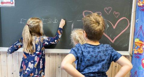 «For Høyre har det alltid vært viktig å skape en skole med muligheter for alle, uavhengig av hvor du bor eller hvilken familie du kommer fra. Derfor har vi satt et mål om at ingen skal gå ut av grunnskolen uten å kunne lese, skrive og regne skikkelig», skriver Høyre-politikerne Kent Gudmundsen og Ingjerd Schou. (Illustrasjonsfoto: Gorm Kallestad, NTB Scanpix)