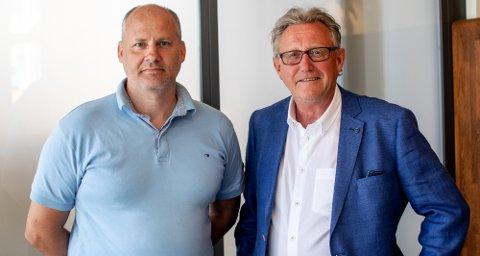 PÅ OFFENSIVEN: Huskjeden Archihus vil satse offensivt, lover BoligPartner. Jan Hoff (t.h.), fra Tønsberg, blir kjededirektør. Odd Brekke blir kvalitetssjef.