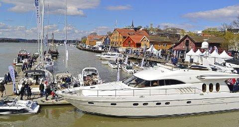 RUVER GODT: Princessen på 78 fot fikk mye oppmerksomhet på båtmessa i Tønsberg i fjor.