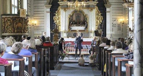 Fra sommerkonsert i Drøbak kirke.