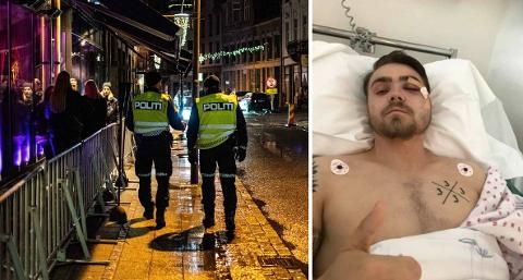 Jostein Skår måtte opereres på Ullevål etter å ha blitt utsatt for vold inne på et utested i Fredrikstad.  Hendelsen skjedde natt til 1. juli i fjor, men fortsatt er ikke voldsmannen dømt.
