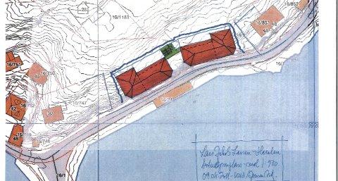 SKISSE: Innleggsforfatteren Lars Jakob Larsen har lagt ved denne skissen av prosjektet. Til venstre ser man Holmenbrua og videre Buvikveien mot Buvika. En eventuell utbygging i Hasalen er markert innenfor de blå strekene.Foto: Privat
