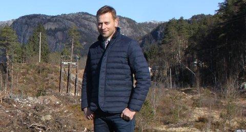 FORNØYD: Sirdal-ordfører Jonny Liland er fornøyd med at bystyret i Flekkefjord går imot Agder Energis fusjon.