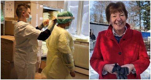 ETT ÅR: Ordfører Marianne Borgen besøker Adamstuen testsenter i forbindelse med at det er ett år siden Norge stengte ned.
