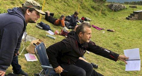 På Vollmoen: Ketil Høegh er engasjert når han er på jobb på Vollmoen. Foto: Øyvind A. Olsen