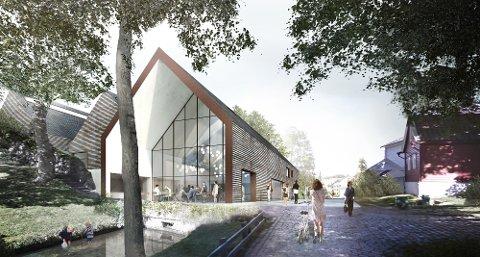 Slik ser vinnerutkastet ut for det nye publikumsbygget i Gamle Bergen.