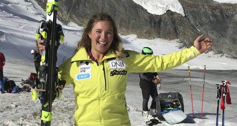 I september var både skiene og smilet tilbake hos alpinist Maria Tviberg da hun dro til Sveits.