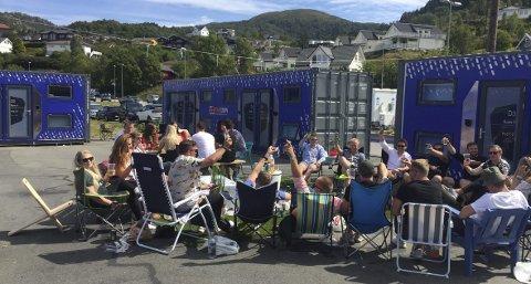 Podtown: Under fjorårets Tysnesfest hadde Podtown sin første test av podtellene. I år er de tilbake, og snart står festivaler over hele Norge for tur. Alle foto: Privat