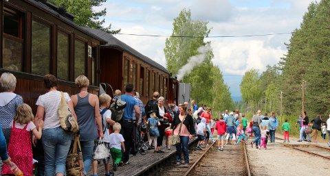 SVIKTET IKKE: Tross avsporing og andre problemer har Krøderbanen i sommer klart å gjennomføre sesongen med hele 17 prosent økning i antall reisende.