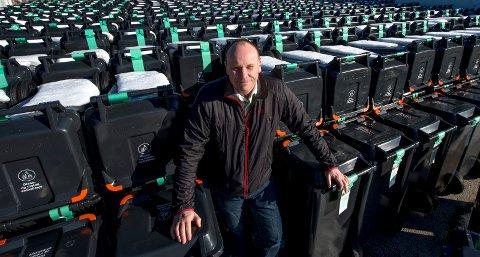 André Svendsen, virksomhetsleder renovasjon i Fredrikstad kommune, og kollegene hans opplevde at søppeldunkene hjemme hos folk var fullere enn før i fjor.