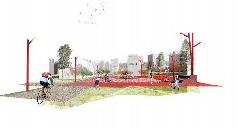 Planen klar: Det er flere forslag til hvordan Midtbyen skal bli seendes ut i framtida. Foto: Asa Arkitektur og Inby