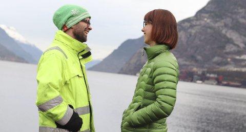 Humor: Øystein og Gunn meiner humor er ein viktig ingrediens, både jobb og privat. foto : Synnøve Nyheim