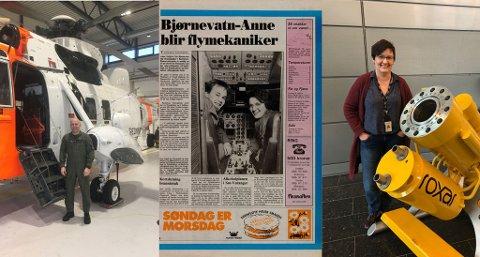 FØRST UT: Fred Stabell og Anne Jerijärvi var blant de første finnmarkingene som fikk prøve seg på flymekanikerlinja i Bardufoss i 1987. I dag er begge fremdeles like interesserte i teknologi, men jobber innenfor hvert sitt felt.
