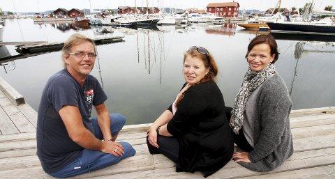 Bli med: Prosjektleder Thore Borg og Birgit Sandin Vildalen fra turistforeningen, sammen med frivillighetskoordinator Marit Sola.foto: jarl Rehn-Erichsen