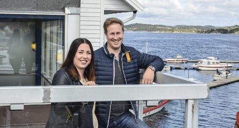 Klare: Jeanett Risinggård Sortland og Daniel Christensen åpner Jimmys Lanternen Kragerø om en snau måned.