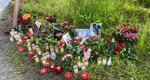 ULUKKESSTADEN: Frå ulukkesstaden på Baugstranda der 18 år gamle Emma Weberg Kaldestad omkom på kvelden den 19. juli 2021.