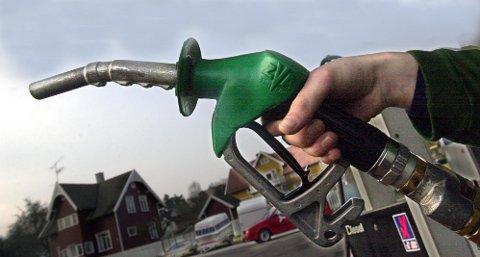 NED: Salget av bensin og diesel er gått ned.