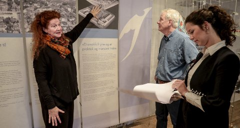 Utstilling: Camilla Gjendem (til venstre), Bengt Eriksen og Eileen Jahren Eriksen har samarbeidet om utstillingen som åpner på torsdag.