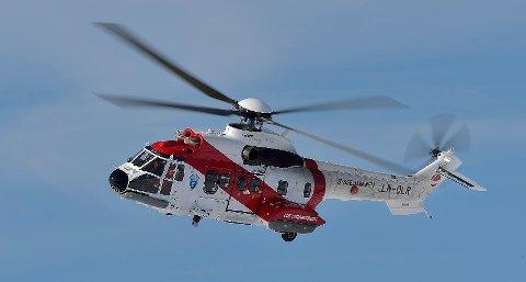 FIRE ROTORBLADER: : Dette er ett av de to Super Pumaene som Lufttransport flyr for Sysselmannen. Sysselmannshelikoptrene er av en annen type enn det som har vært involvert i flere ulykker i britisk sektor, og nå sist utenfor Bergen. Ulykkeshelikoptrene har fem rotorblader.
