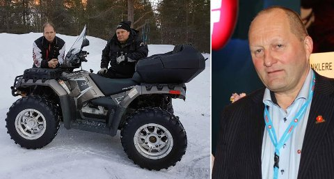 NEKTER Å BETALE: Håvard Forså (tv) og John-Erik Severinsen mener det er urimelig at de skal betale mer i bot enn sametingspolitiker Arthur Tørfoss (FrP, th), som ble tatt for ulovlig ATV-kjøring i fjor sommer.
