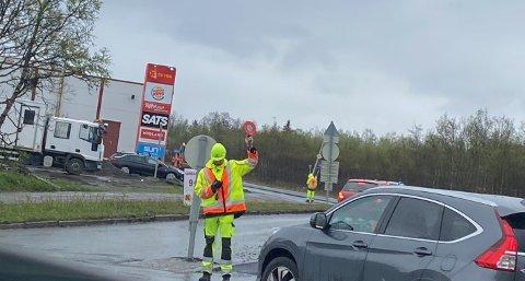 KØ: Det legges asfalt i innkjøringa til Workinmarka fra rundkjøringa