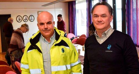TILTAKSLISTE: Driftssjef John Christensen (t.v.) og HR- og økonomisjef Kai Løvstad la fram en omfattende liste over tiltak som skal sikre at Horisont henter husholdningsavfall hos alle abonnentene.