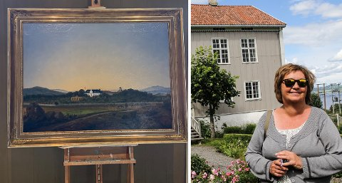12 TIMERS UTSTILLING: To unike Peder Balke-bilder, som en kunstsamler fra Toten kjøpte tidligere i år, ble vist fram i bare noen timer på Peder Balke-senteret på Kapp tordag.