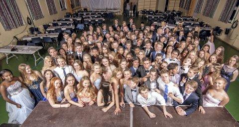 Fornøyde: Ungdommene hadde en fin kveld. Foto: Morteza Masuleh, kjeller'n