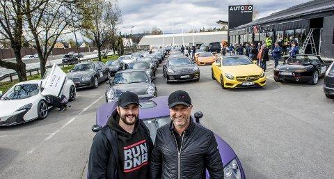 MER LUKSUS: Michael Stang Treschow (t.v.), her sammen med Olav Medhus da de to samarbeidet om lukusbiler tidligere i år, har kjøpt seg ny leilighet i Miami til 96 millioner kroner.