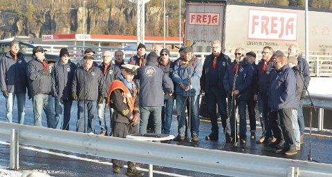 PÅ PLASS IGJEN: Langesund Mandssangforening var hentet inn av Nye Veier til åpningen av nye E18. De har blitt hyra av dem før også.