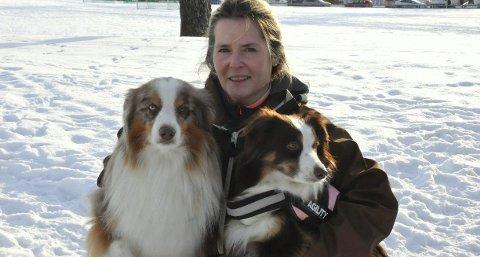 Friskmeldt: Bergendahl er endelig friskmeldt etter kreftsykdom og hundene Jack og Emma betyr mye for henne.