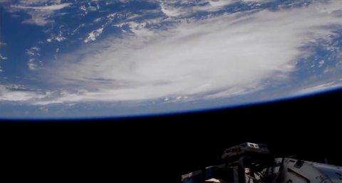 Orkanen Dorian sett fra verdensrommet. Bildet er tatt fra Den internasjonale romstasjonen. Foto: NASA / AP / NTB scanpix