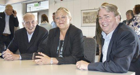 LEDERE: Tre ledere for hvert sitt næringsråd, fra venstre Arne Hjorth (Hurum), Hilde Thorud (Røyken) og Lars O. Nordal (Asker).