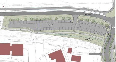 SPIKKESTAD: Etter planene vil utbyggingen av ny parkeringsplass og gangvei starte i 2021.