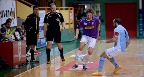 KAN AVGJØRE: Dersom Per Martin Haugen og Sandefjord Futsal slår Grorud lørdag, vil de vinne årets eliteserie.ARKIVFOTO: ANN KRISTIN SAASTAD