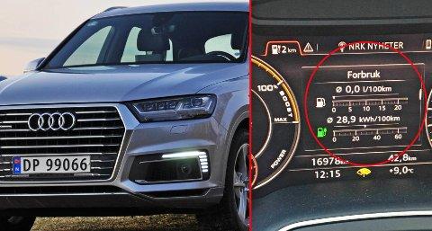 Brooms redaksjonssjef, Vegard Møller Johnsen, har testet Audis ladbare stor-SUV Q7 e-tron – og latt seg imponere!