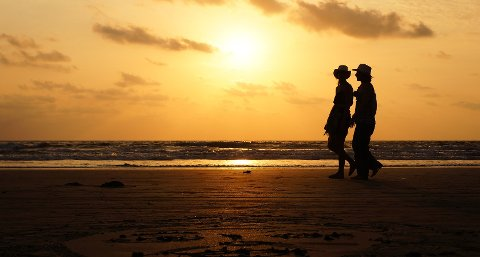 India har blitt et populært reisemål for nordmenn i julen. Her er Arambol-stranden i Goa.