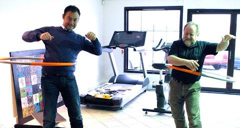 Herbjørn Vestvik og Kenneth Kallesten er klare for å ta i bruk det nye trimrommet.