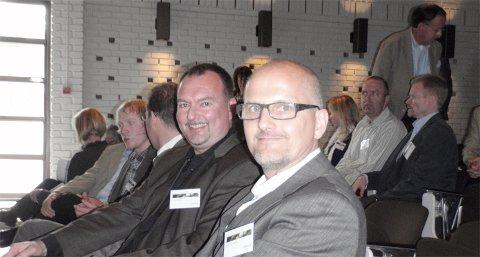 Her er vinnaren Bjarne Langeteig med dei andre finalistane.