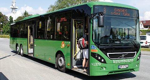 En tredelt rute mellom Tananger og Sandnes skal gi punktligere busser.