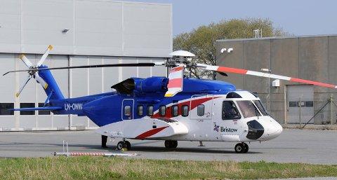 Det var denne Sikorsky S-92-maskinen som i formiddag fikk motorproblemer og måtte returnere til Sola.