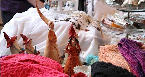 Julemessene bød på hjemmelagede produkter.
