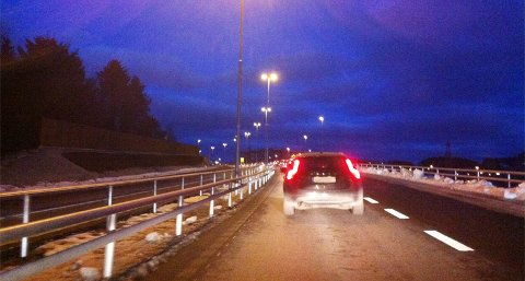 Køene på Motorveien i rushtiden forplanter seg fort til Solasplitten. Ved avkjørselen til Forus Nord på Solasplitten var det torsdag ettermiddag full stans på grunn av kø.