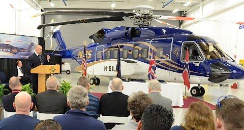 Rett før helgen ble det første S-92-helikoptrene overlevert til Norsk Helikopterservice. Det skjedde under en seremoni ved Sikorsky sin  fabrikk i Coatesville, Pennsylvania i USA.