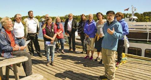 Ut på tur: En rekke aktører har samarbeidet for at øyhoppingen i Langesundsfjorden skal bli mulig. Prosjektleder Øystein Lie ber folk ta seg en tur. foto: ellen esborg