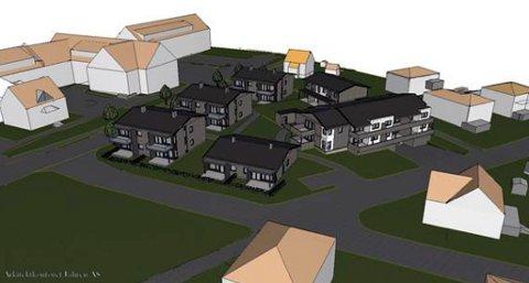 NYE BOLIGER: Inntil 26 boenheter kan bli bygd i et nytt felt i Gjerpensgate ved Statens hus. Det er Intvest AS, Øygarden eiendom AS og PBBL prosjekt AS som står bak planene gjennom Gjerpensgate 15 Boligutvikling AS. Landskapsarkitekt John Lie fremmer forslaget.